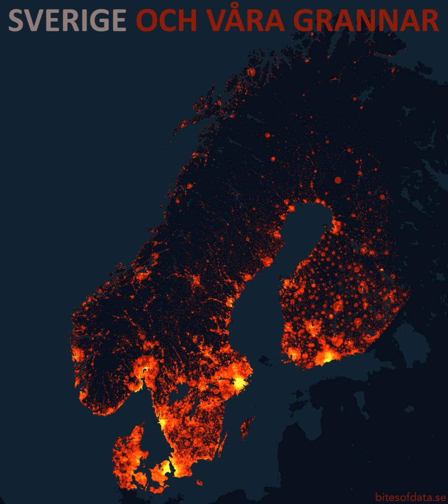 Sveriges befolkningstäthet